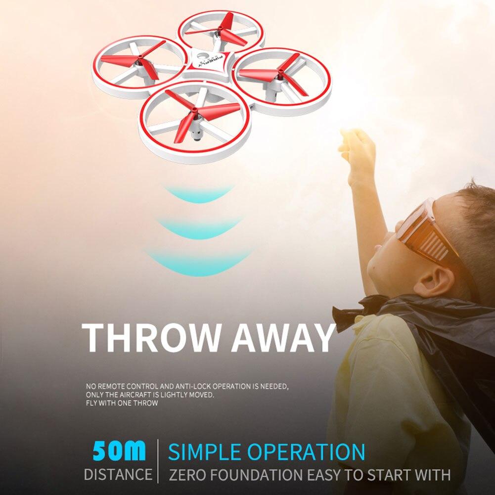 Image 5 - Los niños avión iluminación LED Quadcopter Drone gravedad Sentido de cuatro ejes reloj inteligente juguete de Control remoto gesto interactuarRelojes inteligentes   -