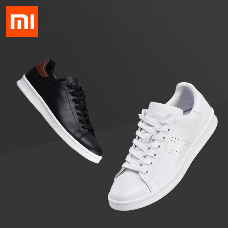 Xiaomi Mijia FreeTie Running Shoes Classic Leather Skateboard Shoes Comfortable Anti slip Fashion Leisure Shoes For Men Women