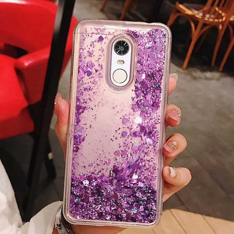 reputable site 8c3c6 1ce58 Redmi 5 Plus Glitter Liquid Case Luxury Soft Silicon Back Cover For Xiaomi  Redmi Note 4 4X 5 Pro Coque Case Etui Hoesje Capinha