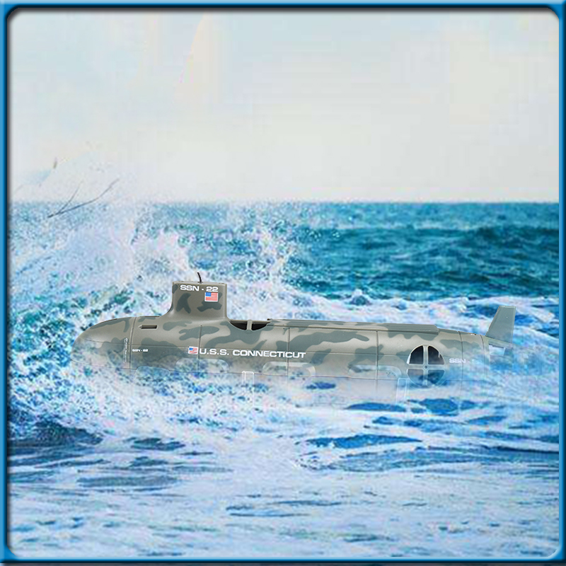 Hot Quality US Seawolf RC Submarine Model Nuclear-Powered Submarine RC Remote Control Boat Charging children's Toys high quality high speed rc boat 13000 6ch mini radio control simulation series rc nuclear racing submarine model kids best gifts