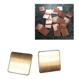 20mm x 20mm 10 stücke Thermische Pad Barriere Reinem Kupfer Kühlkörper Shim Thermische Pads für Laptop GPU VAG PAD 0,3mm 0,5mm 0,8mm 1,0mm 1,2mm