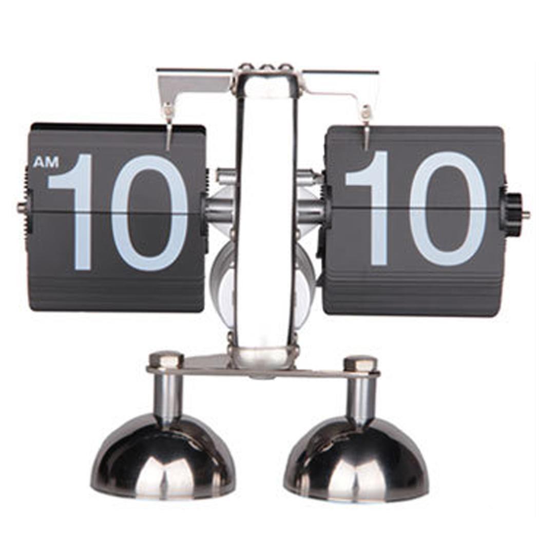 Balance créative automatique tournant l'heure de l'horloge silencieuse de bureau, cadeaux, décoration maison, bureau