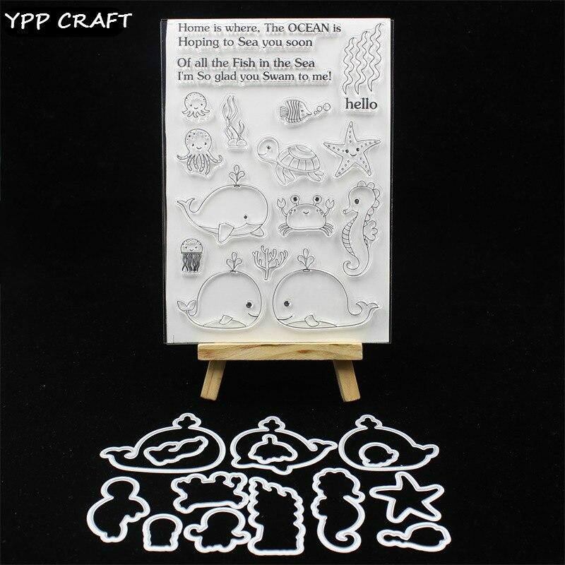 YPP ARTISANAT Mer Animal Timbre Et la Coupe des Métaux Meurt Pochoirs pour le BRICOLAGE Scrapbooking/photo album Décoratif Gaufrage DIY Cartes 121