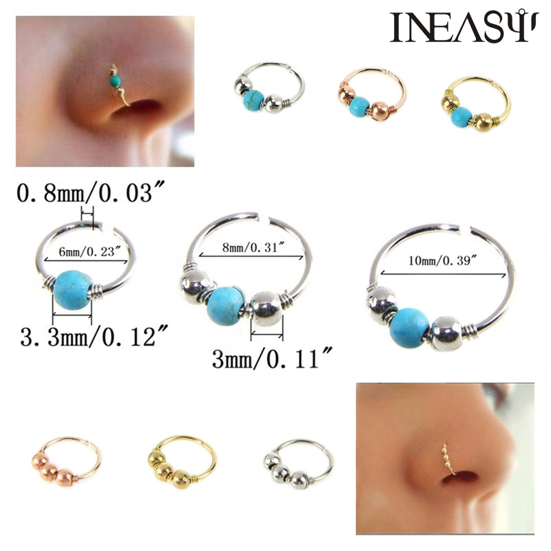 Nose Ring Piercing Fashion Nose Studs Septum Jewelry Nose Nail Body Jewelry Piercing For Women 2Pcs
