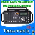 Free Shipping Tecsun S2000 FM Stereo LW MW SW SSB Air Pll Synthesized Radio s2000