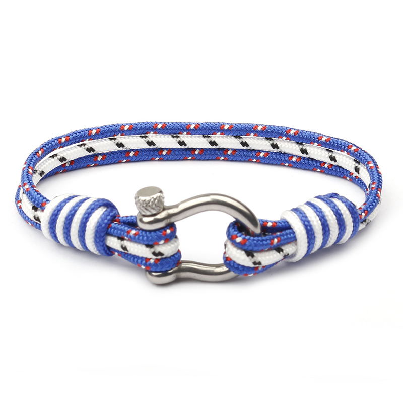 NIUYITID New Stainless Steel Buckle Nautical Survival Rope Chain Bracelet Men Sport Camping Parachute Braclet Female Jewelry (2)