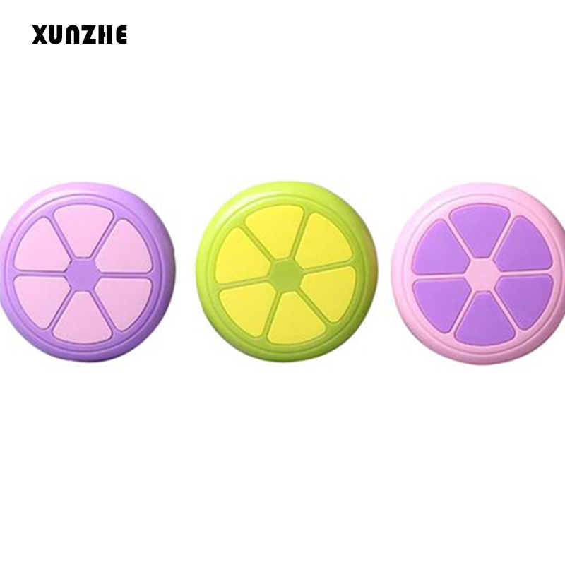 XUNZHE 1pcs/sets orange contact lens box lens Case Box Eyes Care Kit Holder Travel Washer Cleaner Container