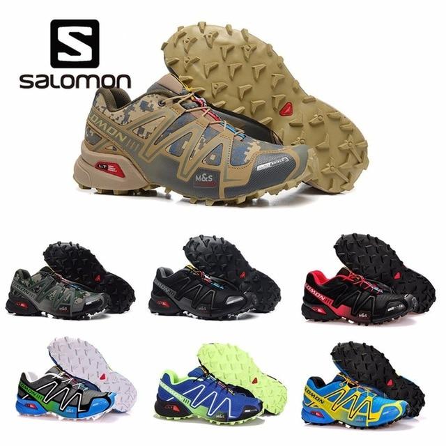 regard détaillé 8f46c cb94b US $23.4 48% OFF 2018 Hot Salomon Speedcross 3 CS Sports Men Shoes  Breathable Athletics Salomon Running Shoes For Men Speed cross Fencing  Shoes -in ...