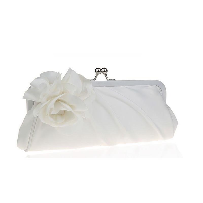 2017 Nuevo Monedero de Las Señoras Del Satén de Novia de La Boda Vestido de Fiesta Garras Mensajero Flor de Seda de la Mano de Las Mujeres Bolso de Noche