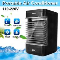 Home Office Desk 3 in 1 Mini Air Conditioner Cooler Fan Cooling Device Humidifier Air Freshener & air purifier with 2 wind speed