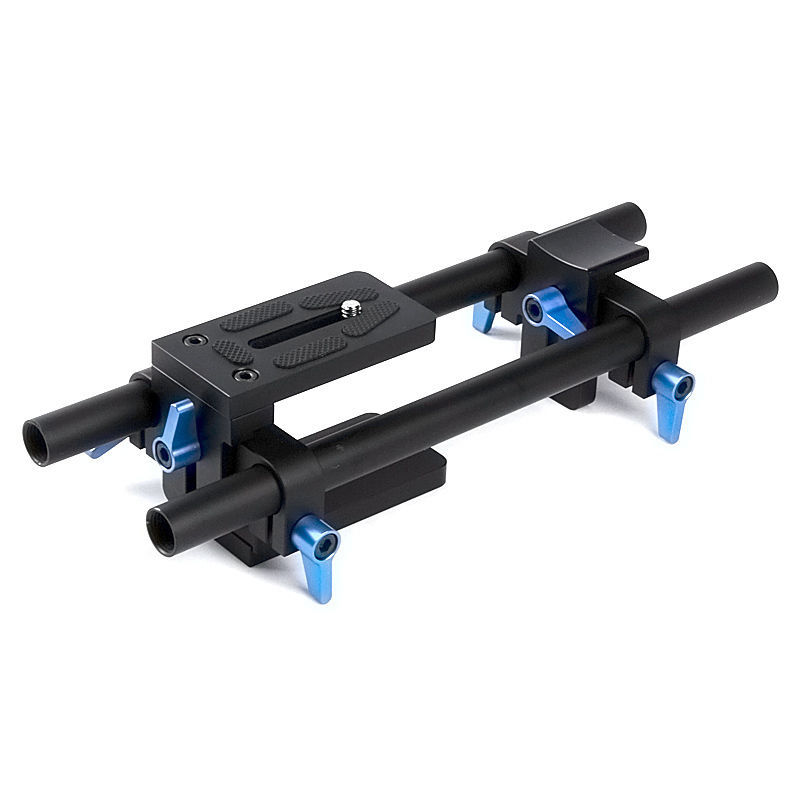 DSLR 15mm Rail Rod Support System Baseplate Mount for Matte Box Follow Focus Canon Nikon Sony