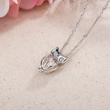 Best Charm Glowing Long Owl Pendant Necklace Cheap