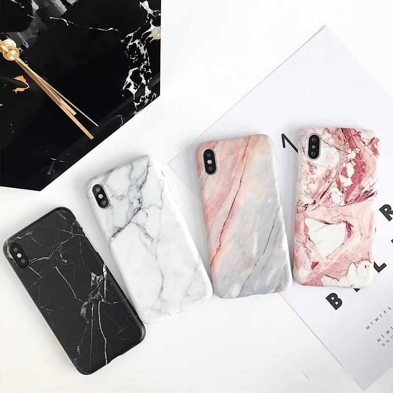 LoliHippo שיש רך סיליקון טלפון Case כיסוי אחורי עבור iPhone X 7 8 6 6 S 6 S בתוספת חמוד כיסוי עבור אפל iPhone XR XS מקסימום