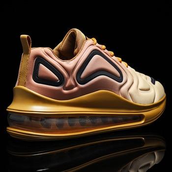 Almofada de ar dos homens GINITA moda tênis homens sapatos casuais tamanho grande 46 tênis de corrida ao ar livre masculino esporte calçados sapatilha homem 1