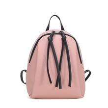 Vintage Tassel Mini Backpack Leather Pu Small Women Zipper School Bags for Teenage Girls female Mochila Mujer 2019