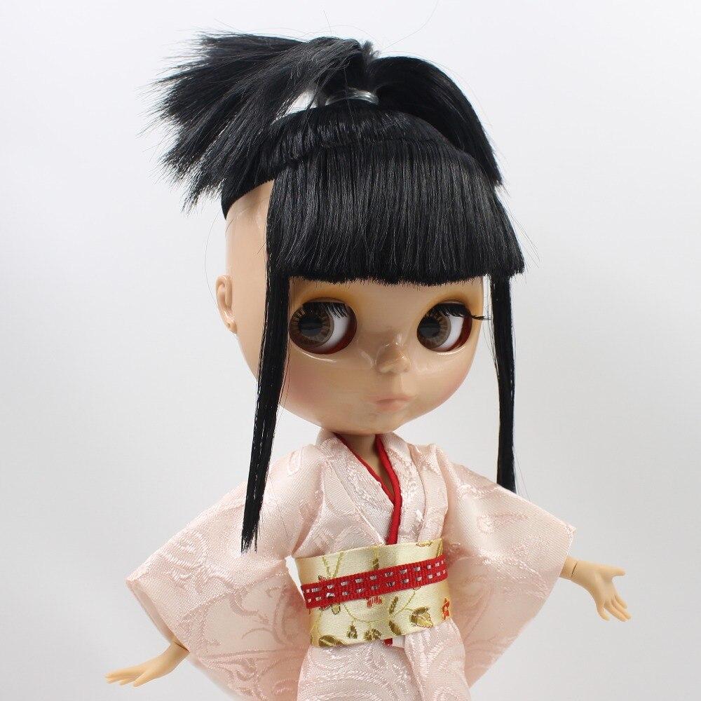 free shipping blyth doll icy licca body BLACK hair joint body tan skin 1 6 30cm