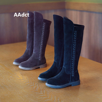AAdct Warm high boots for girls New fashion kids boots 2018 autumn and winter children boots cotton princess Brand High quality