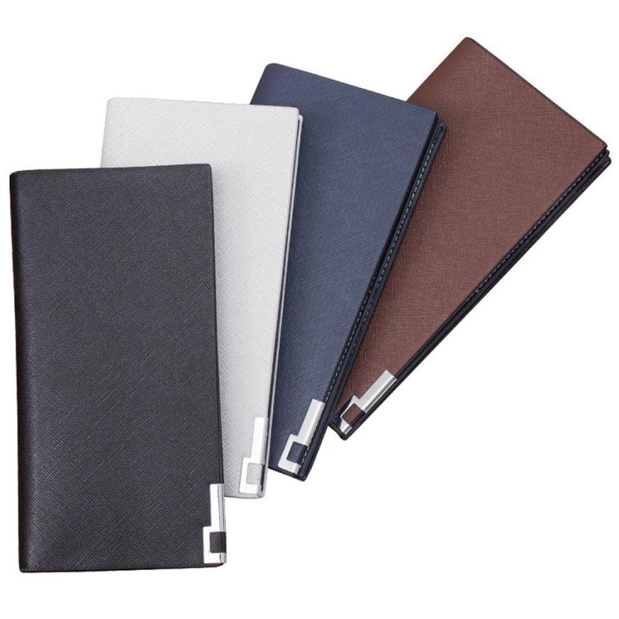 Maison Fabre Wallet   Men Long Bifold Business Leather Wallet Money Card Holder Coin Bag Purse  Drop Shipping 2018J11