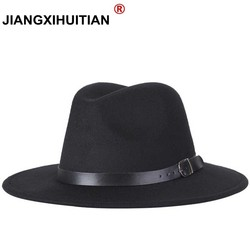 d5736fc5b9786 free shipping 2019 new Fashion men fedoras women s fashion jazz hat summer  spring black woolen blend