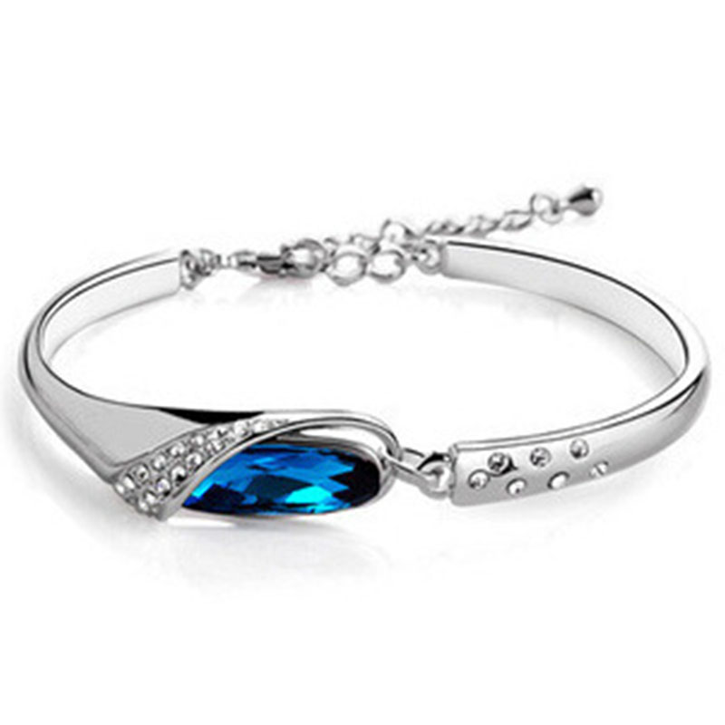 Sale Delicate Women Multicolor Crystal Bracelet Brilliant Silvery Aolly Bangle Jewelry Gift