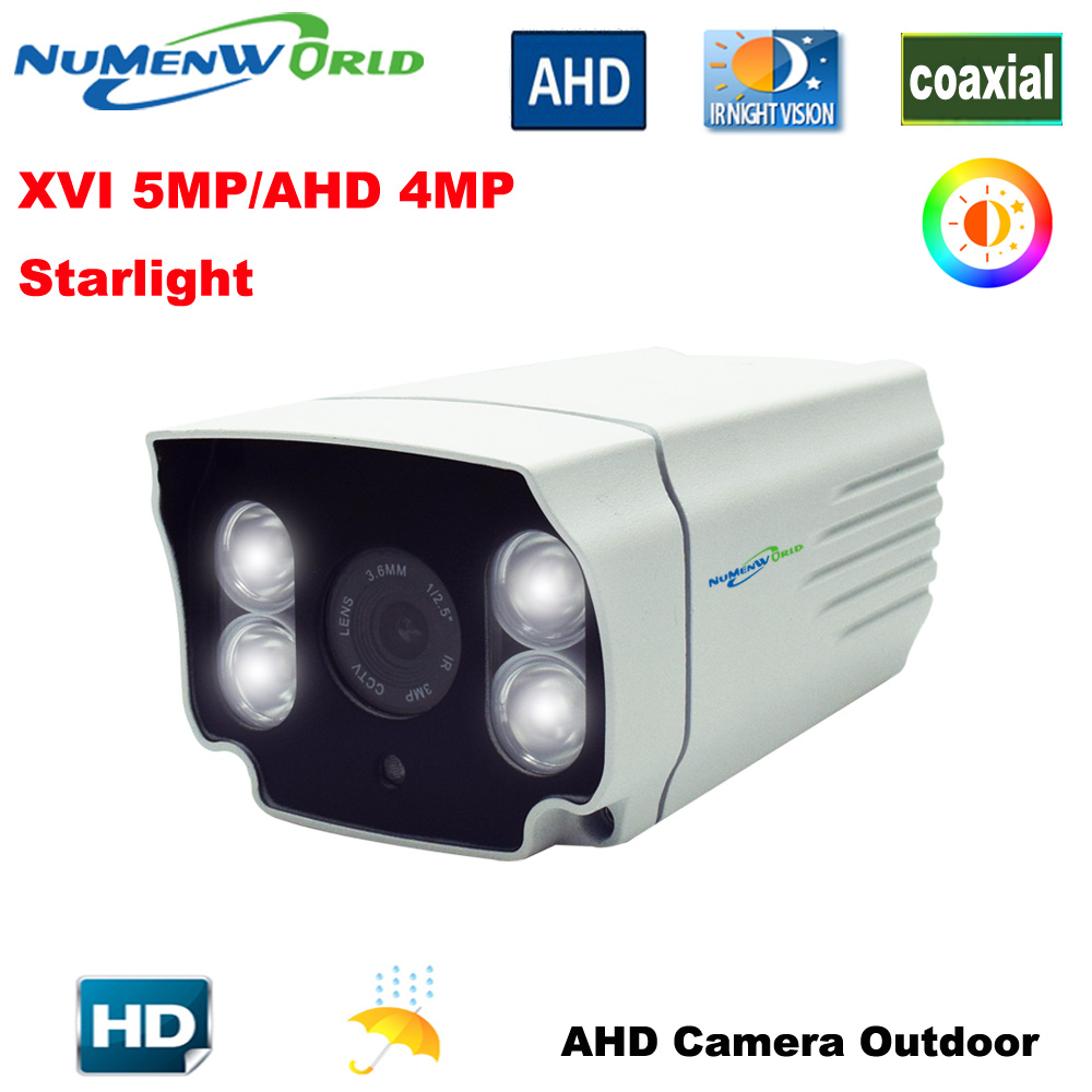 Best Outdoor AHD camera XVI5MP/AHD 4.0MP HD CCTV Security Camera White light LEDs full color at Night Vision Analog Video camera