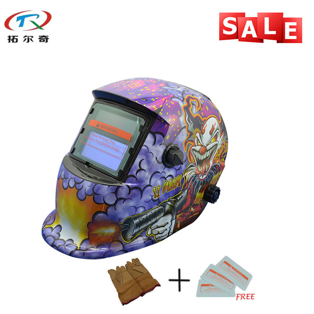 Purple Monster Printing Welder Mask Solar Mig Tig Welding Helmet