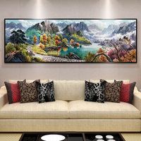Mountain Scenery DIY 5D Full Square Rubik S Cube Round Diamond Embroidery Painting Cross Stitch Kit