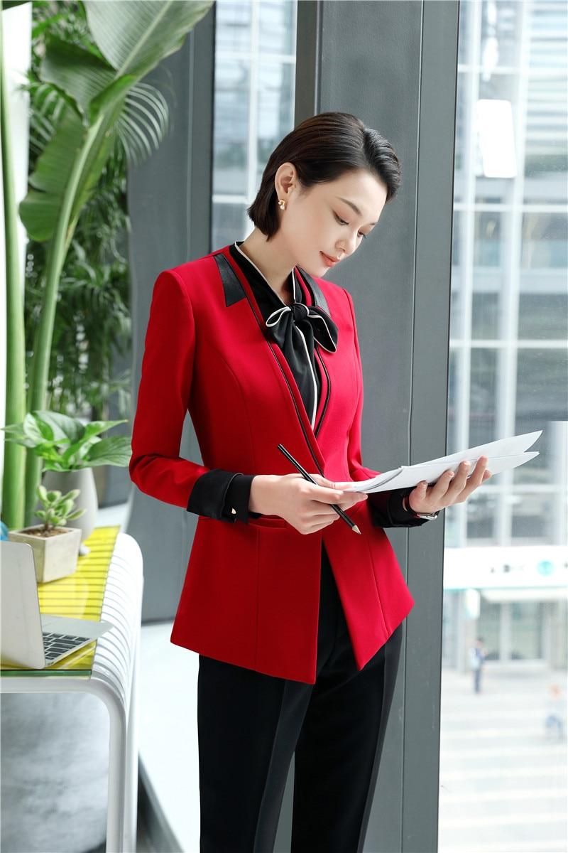 Analytisch 2018 Neue Stile Hohe Qualität Stoff Uniform Designs Blazer Anzüge Mit Tops Und Hosen Für Frauen Weibliche Hosen Anzüge Hosen Sets