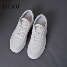Shoes Woman Leather White Sneakers Women 2019 Casual 4cm