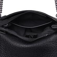 New Simple Embroidery Women Bag Fashion Chain Single Shoulder Bag Punk Rock Rivet Tassel Women Messenger Crossbody Handbag Black