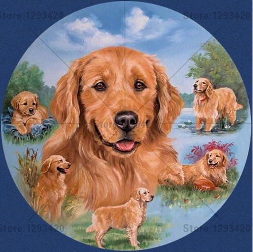 Diy 5d diamond painting cross stitch animal lovely dog mosaic full square resin rhinestones Diamond embroidery home decoration