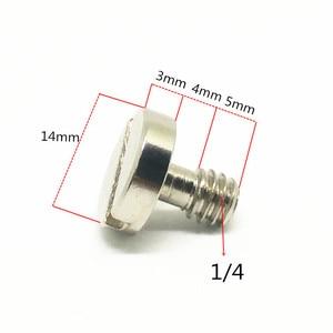Image 2 - Jadkinsta 14mm 1/4 śruba łącząca do statyw kamery Monopod płyta szybkiego uwalniania płyta bazowa Rig 1/4 adapter śrubowy bez pierścienia