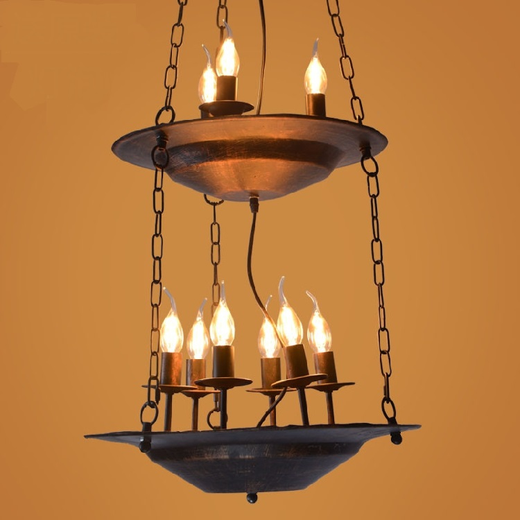 American country brazier Pendant Lights loft meal cafe bar industrial entrance aisle creative Iron LU824444 tiffany the restaurant in front of the hotel pendant lights cafe bar small aisle entrance hall creative pendant lamp za df7 lo10