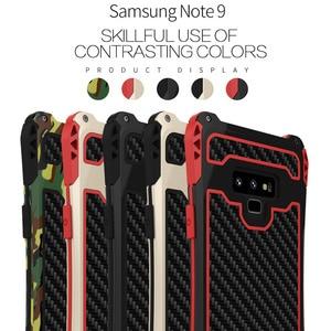 Image 2 - עמירה עמיד הלם היברידי עומס כבד מוקשח שריון מקרה טלפון עבור Samsung Galaxy S10 S8 S9 בתוספת הערה 8 9 פחמן סיבי כיסוי