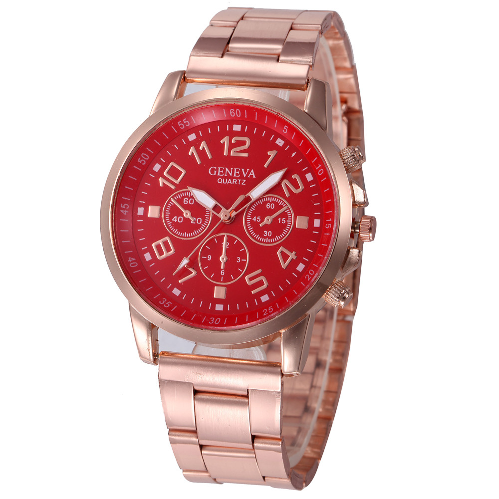 Watch Female Stainless Steel Alloy Wristwatches Women Dress Rhinestone Quartz Watch Rose Gold Gift  New Hot 999