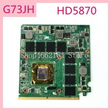 G73JH HD5870 G73_MXM BOARD 216-076900 VGA graphics card board For ASUS G73J G73 G73JH Laptop Motherboard fully tested