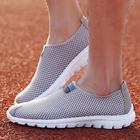 Outdoor Sport Summer Men Women Walking Shoes Couples Slip On Comfortable Breathable Sneakers Female Male Gray Purple Footwear