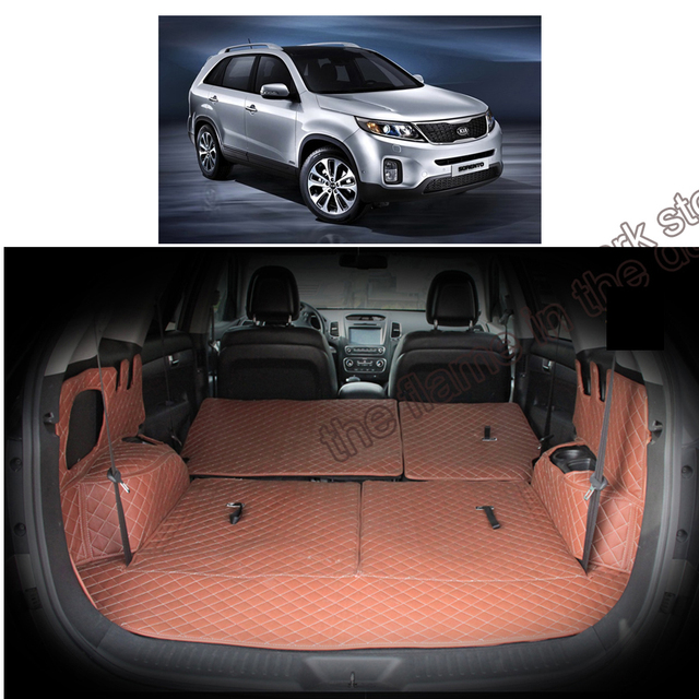 Lsrtw2017 Fiber Leather Car Trunk Mat For Kia Sorento 2015 2016 2017 2018  2019 Kia Sorento