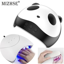 MIZHSE UV Lamp LED Ice Lamps Nail Gel Polish Dryer Manicure Machine for Nails Art Curing With Timer Button USB Connector Tools(China)