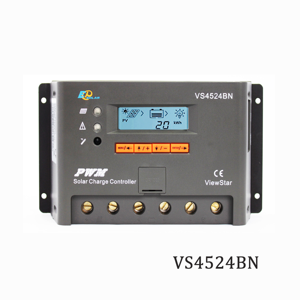 Viewstar VS4524BN 45A 12V 24V EP PWM Programmable Solar Charge controller charger Regulators support MT50 WIFI Bluetooth elog01Viewstar VS4524BN 45A 12V 24V EP PWM Programmable Solar Charge controller charger Regulators support MT50 WIFI Bluetooth elog01