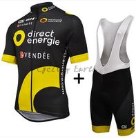 Direct Energie BH ALE 2016 Short Sleeve Cycling Jersey Bib Shorts Shirt Set Clothes Sport Jersey