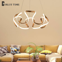 New Arrival Modern Golden Finished LED Pendant Lights For Bedroom Dining Room Living Input AC 220V 110V