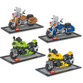 Motorcycle Diamond Building Blocks Road King Kawasaki Model Toys Mini DIY Building Bricks Gifts Collection