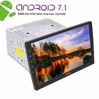 Android 7,1 стерео двойной Din в тире gps навигации Восьмиядерный Авторадио 2 Din Bluetooth радио 10,1 ''USB SD Зеркало Ссылка SWC