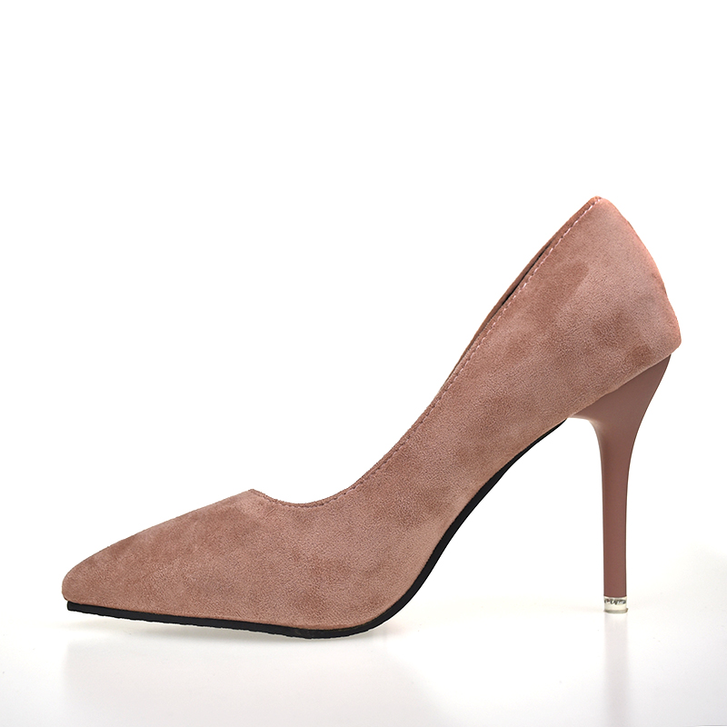 Aphixta Shoes Woman Super High Heels Pumps Nude 10cm Thin Heels Wedding Shoes Party Ladies Shoes US Large Size 48 Classic Pumps