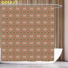 Cool Shower Curtain Native American Decor Ethnic Indian Cultural Motif Bathroom Decor Set with Hooks(China)