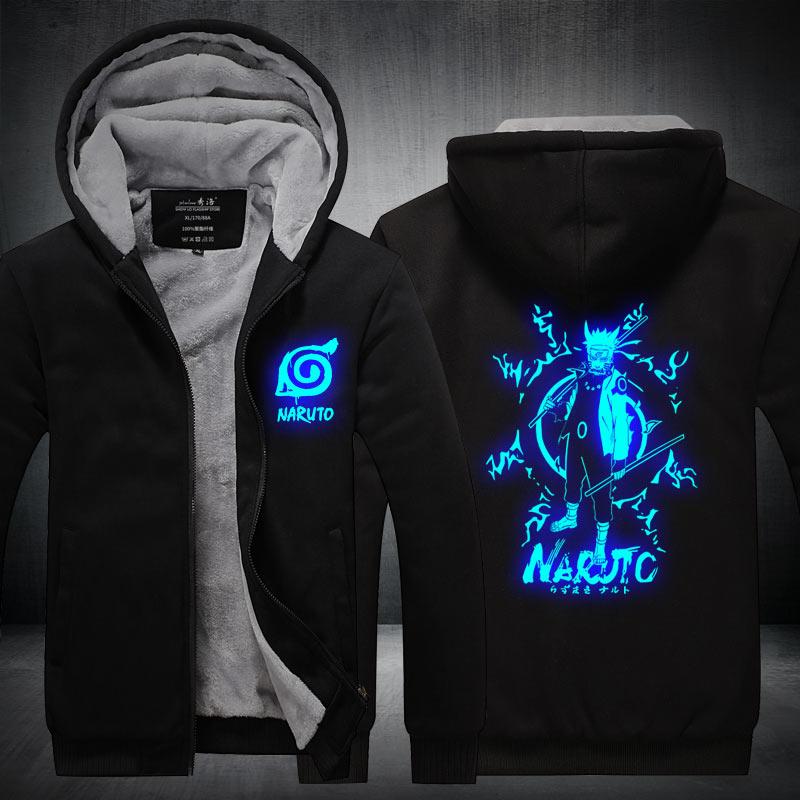 Fans Wear Unisex Winter Naruto Printed Hoodie with Pocket Uzumaki Casual Coat Movie Cosplay Costume in Hoodies amp Sweatshirts from Men 39 s Clothing