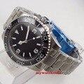Автоматические мужские часы  стерильный черный циферблат  40 мм