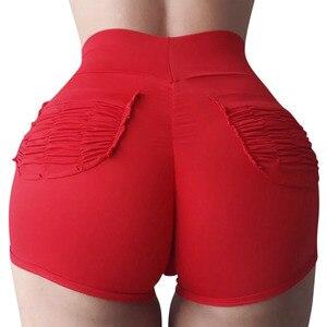 Short Femme Gym Shorts Women Sport Women Fitness Running Shorts High Waisted Summer Shorts Girl Booty Workout Black(China)