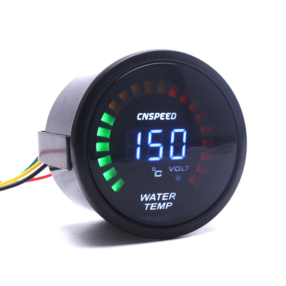 CNSPEED 52mm 2 Inch LCD Digital Car Water Temp Gauge With Sensor Water Temperature gauge Car